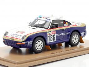 Porsche 959 #186 Rallye Paris - Dakar 1985 Metge, Lemoyne 1:43 Spark