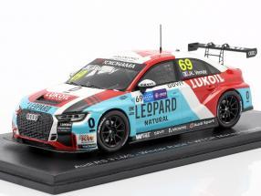 Audi RS 3 LMS #69 Winner Race 1 WTCR Macau Guia Race 2018 Jean Vernay 1:43 Spark