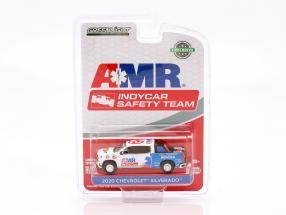 Chevrolet Silverado AMR Safety Team Indycar Series 2020 white / blue 1:64 Greenlight