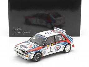 Lancia Delta HF Integrale #4 Winner Rallye Monte Carlo 1992 Auriol, Occelli 1:18 Kyosho
