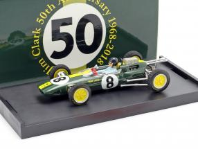 Jim Clark Lotus 25 #8 World Champion Italy GP F1 1963 with figure 1:43 Brumm