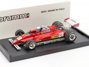 Didier Pironi Ferrari 126C2 Turbo #28 GP San Marino formula 1 1982 1:43 Brumm