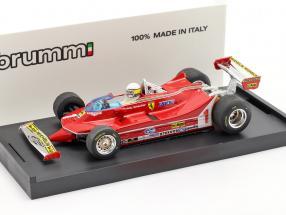 Jody Scheckter Ferrari 312T5 #1 Argentina GP formula 1 1980 With Fahrerfigur 1:43 Brumm