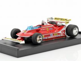 G. Villeneuve Ferrari 312 T4 Test Car #12 Winner GP USA West F1 1979 1:43 Brumm