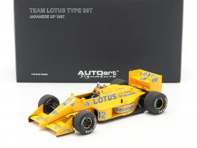 Ayrton Senna Lotus 99T #12 2nd Japan GP formula 1 1987 1:18 AUTOart