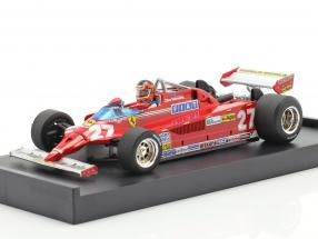 G. Villeneuve Ferrari 126CK #27 GP Monaco Formula 1 1981 1:43 Brumm