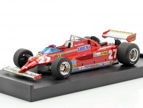 Gilles Villeneuve Ferrari 126CK #27 Sieger Monaco GP Formel 1 1981 1:43 Brumm