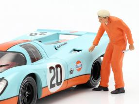 Mechanic with orange Overalls Figure 1:18 FigurenManufaktur