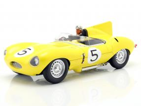 Set: Jaguar D-Type #5 4th 24h LeMans 1956 mit Fahrerfigur 1:18 CMR