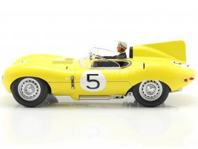Set: Jaguar D-Type #5 4th 24h LeMans 1956 with driver figure  CMR