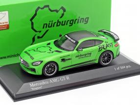 Mercedes-Benz AMG GT-R Ringtaxi The Beast 2018 grün metallic 1:43 Minichamps