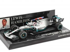 L. Hamilton Mercedes-AMG F1 W10 #44 British GP World Champion F1 2019 1:43 Minichamps