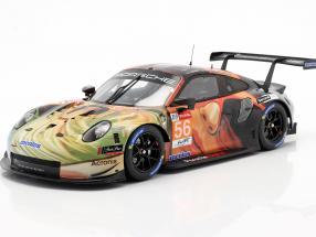 Porsche 911 RSR #56 Class winner LMGTE Am 24h LeMans 2019 Team Project 1 1:18 Spark