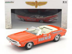 Dodge Challenger Convertible Pace Car 55th Indy 500 1971 orange 1:18 Greenlight