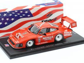Porsche 935 #6 3rd 12h Sebring 1984 Bell, Foyt, Wollek 1:43 Spark