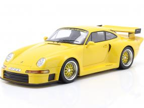 Porsche 911 (993) GT1 Almeras yellow 1:18 KESS