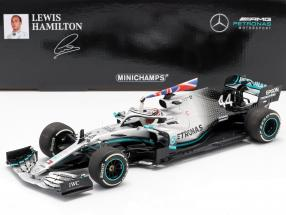 L. Hamilton Mercedes-AMG F1 W10 #44 World Champion Great Britain GP F1 2019 1:18 Minichamps