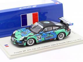 Porsche 997 GT3 Cup #24 Winner Class B Porsche Carrera Cup 2010 1:43 Spark
