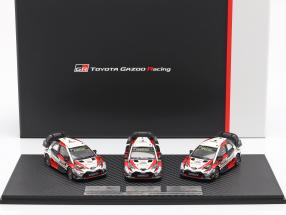 3-car Set Toyota Gazoo Racing WRC 2018 Series Manufacturer's Champion 1:43 Spark