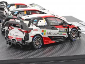 3-car Set Toyota Gazoo Racing WRC 2018 Series Manufacturer's Champion