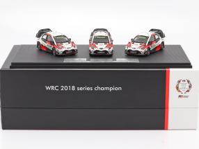 3-car Set Toyota Gazoo Racing WRC 2018 Series Manufacturer's Champion