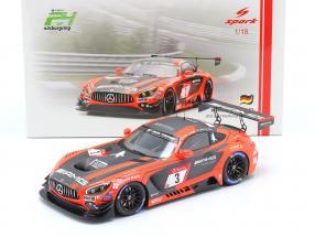 Mercedes-Benz AMG GT3 #3 2nd 24h Nürburgring 2019 Team Black Falcon 1:18 Spark