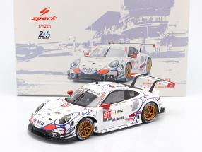 Porsche 911 RSR #911 Class Winner Petit LeMans 2018 Porsche GT Team 1:12 Spark