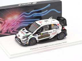 Toyota Yaris WRC #10 Rallye Sweden 2020 Latvala, Hänninen 1:43 Spark