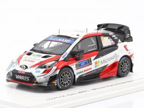 Toyota Yaris WRC #17 Winner Rallye Mexico 2020 Ogier, Ingrassia 1:43 Spark