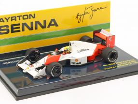 Ayrton Senna McLaren MP4/5B #27 World Champion Canada GP F1 1990 1:43 Minichamps