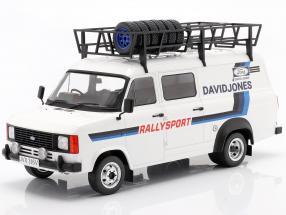 Ford Transit MK II 1979 Rallye Assistance David Jones White / blue 1:18 Ixo