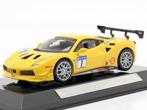 Ferrari 488 Challenge #1 yellow 1:43 Bburago