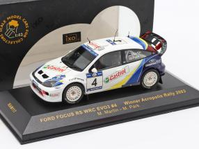 Ford Focus RS WRC EVO3 #4 Winner Acropolis Rally 2003 Martin, Park 1:43 Ixo