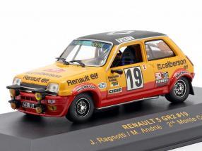 Renault 5 GR2 #19 2nd Monte Carlo 1978 Ragnotti, Andie 1:43 Ixo