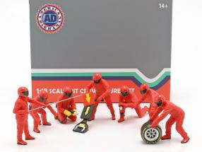 Formula 1 Pit crew characters set #1 Team Red 1:18 American Diorama
