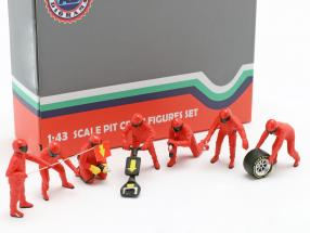 Formula 1 Pit crew characters set #1 Team Red 1:43 American Diorama