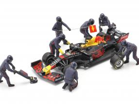 Formula 1 Pit crew characters set #1 Team Blue 1:43 American Diorama