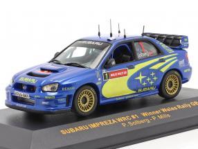 Subaru Impreza WRC #1 Winner Wales rally GB 2004 Solberg, Mills 1:43 Ixo