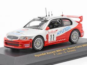Hyundai Accent WRC #11 rally Monte Carlo 2003 Loix, Smeets 1:43 Ixo