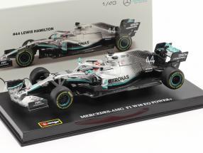 Lewis Hamilton Mercedes-AMG F1 W10 EQ #44 formula 1 World Champion 2019 1:43 Bburago