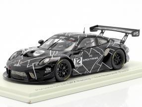 Porsche 911 GT3 R GPX #12 Test Paul Ricard GT World Series 2020 1:43 Spark
