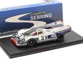 Porsche 917K #3 Winner 12h Sebring 1971 Elford, Larrousse 1:43 Spark