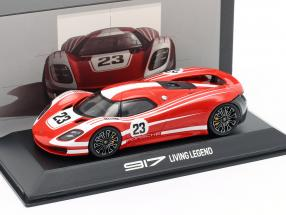 Porsche 917 Living Legend Concept Car #23 red / White 1:43 Spark