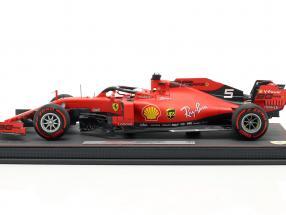 S. Vettel Ferrari SF90 #5 Italian GP formula 1 2019 with showcase  BBR