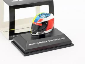 Mick Schumacher Benetton B194 #5 Demo Run GP Spa formula 1 2017 helmet 1:8 Minichamps
