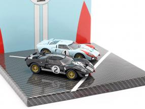 2-Car Set Ford GT40 MK II #2 #1 Winner and 2nd 24h LeMans 1966 1:43 CMR