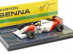 Ayrton Senna McLaren MP4/8 #8 Winner Europe GP F1 1993 1:43 Minichamps