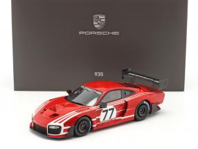 Porsche 935 based on 911 GT2 RS Clubsport Salzburg #77 with showcase 1:18 Spark