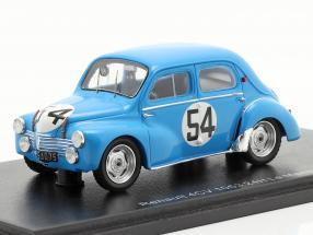 Renault 4CV 1063 #54 24h LeMans 1952 Pons, Moser 1:43 Spark
