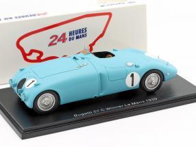Bugatti Type 57C #1 Winner 24h LeMans 1939 Wimille / Veyron 1:43 Spark